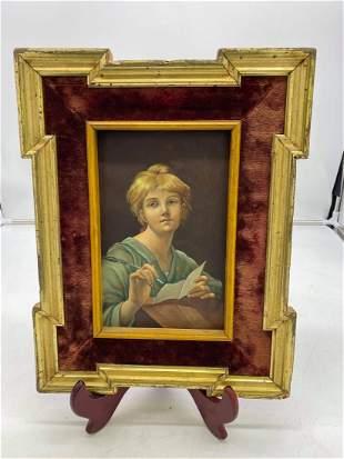 Etienne Adolfe Piot Framed, Signed  Oil On Copper