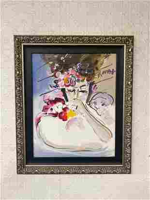 """Peter Max """"Suzanne"""" Original OOC With Providence"""