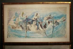Framed Watercolor By Robert A Parker