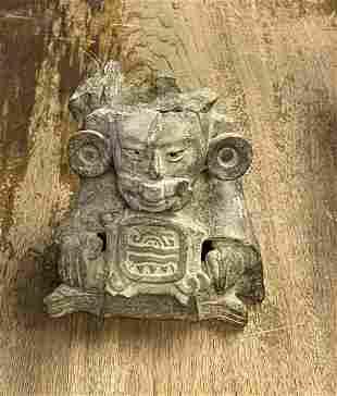 Pre-Columbian Mayan Museum Quality Stone Urn