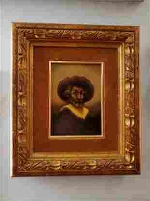 Framed OOC Self Portrait Of Auguste Raynaud