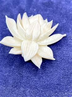 Ming's Honolulu Signed organic Designer Lotus Brooch