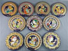 Bjørn Wiinblad 10 Christmas plates. Rosenthal