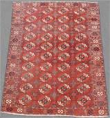 Tekke main carpet. Turkmenistan. Antique. 1st half of