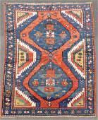 Kazak carpet. Caucasus. Antique, around 1870.
