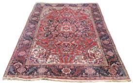 Heriz Persian carpet. Iran. Old, mid-20th century.