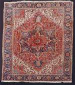 Heriz Persian carpet, Iran. Old, around 1920.
