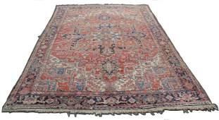 Heriz Persian carpet. Iran. Old, around 1930.