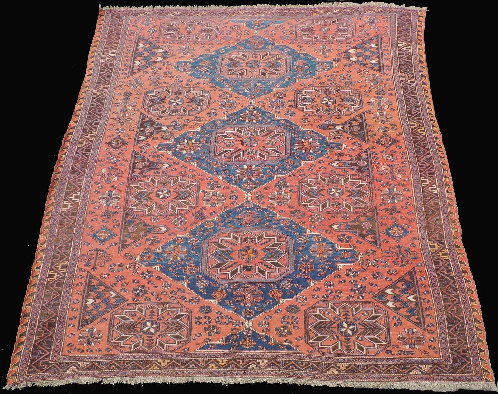 Sumak carpet. Caucasus. Antique, around 1900.