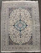 Nain Persian carpet. Iran. Fine knotting.
