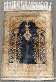 Qum silk Persian carpet Iran Fine knotting
