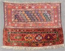Shah - Savan Persian rug. Pocket front. Iran. Antique,
