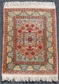 Hereke silk rug. Turkey. Extremely fine weave.