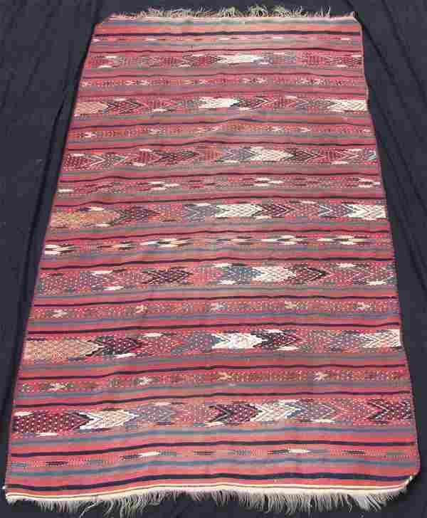 Stripes - Turkmen kilim. Turkmenistan. Antique. 120 -