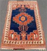 Afshar Persian carpet. Iran. Antique, about 150 - 200