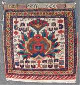Afshar bag front Tribal rug Iran Antique circa 120