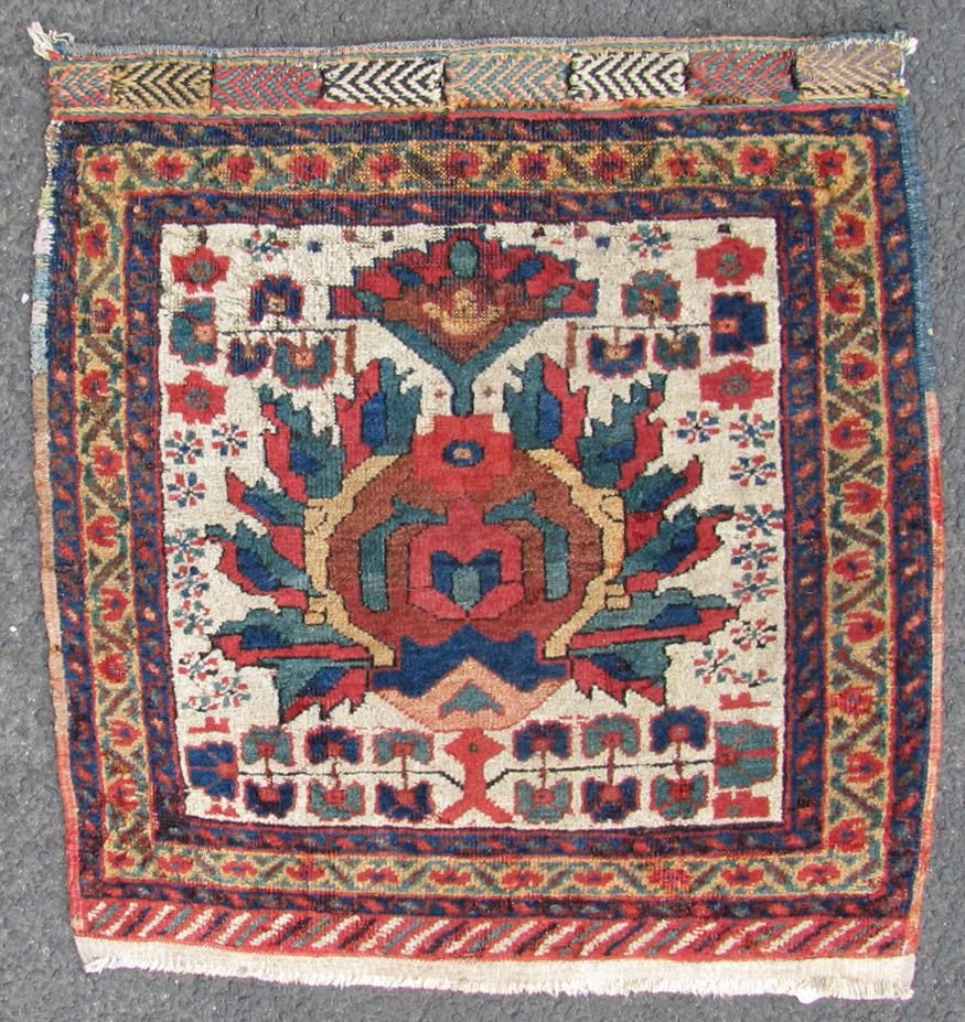 Afshar bag front. Tribal rug. Iran. Antique, circa 120