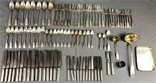 Cutlery silver. Mostly inscribed '' Knauer''.  12 lot.
