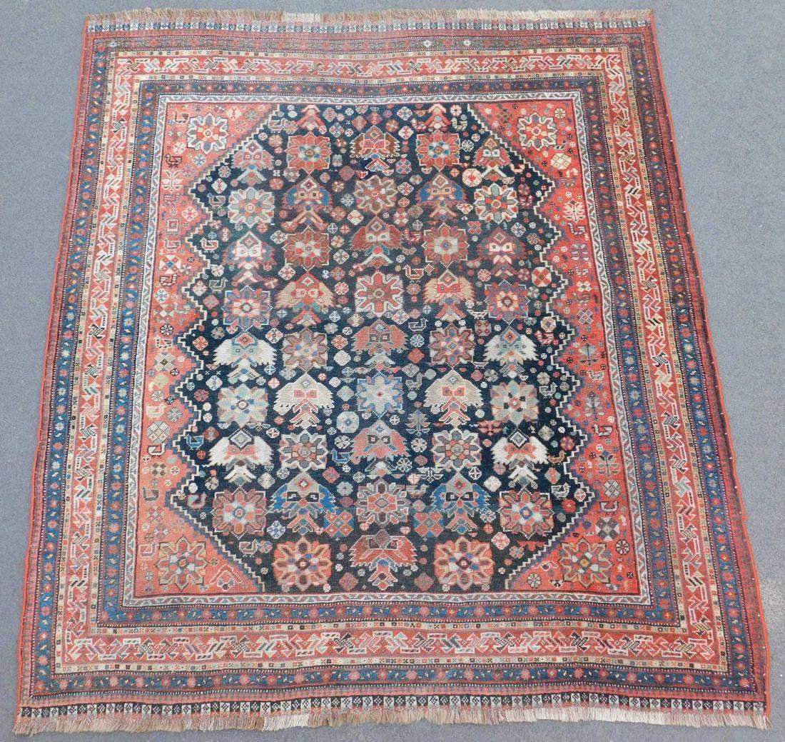 Khamseh Persian carpet. Iran. Antique, around 100 - 150