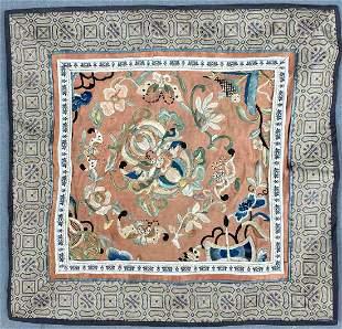 Embroidery. Textile. Stumpwork, including silk.