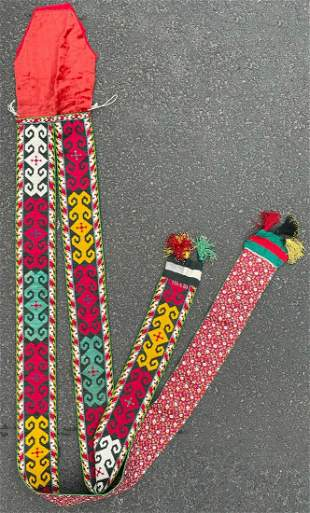 Lackey band. Embroidery. Sash? Central Asia.