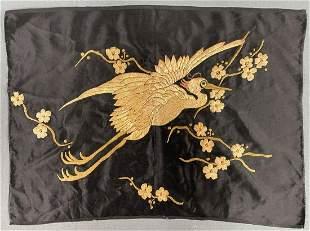 Silk embroidery. Stumpwork. Probably China, Japan