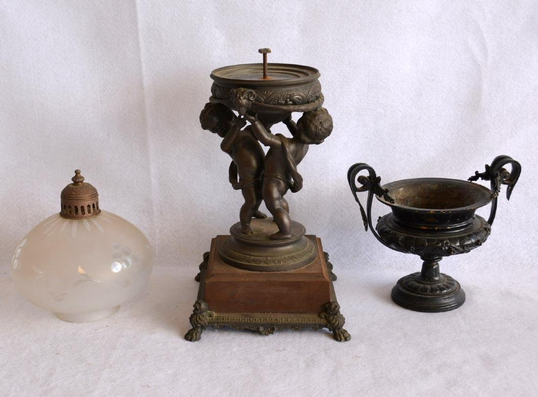 Two decorative collectibles including a small bronze 19 - 2
