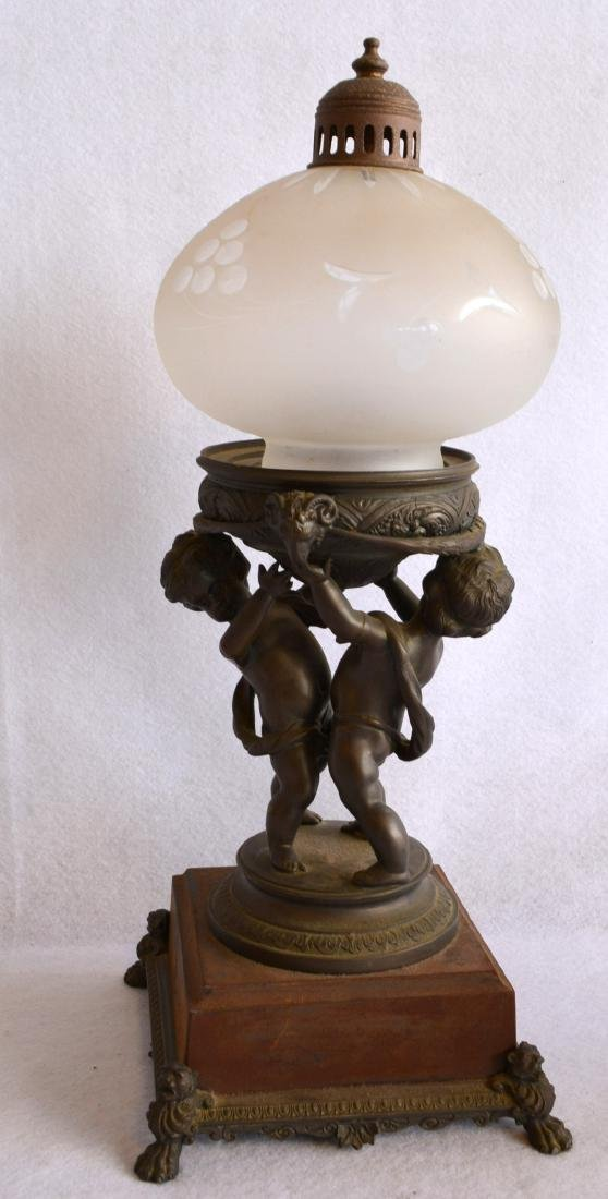 Two decorative collectibles including a small bronze 19 - 4