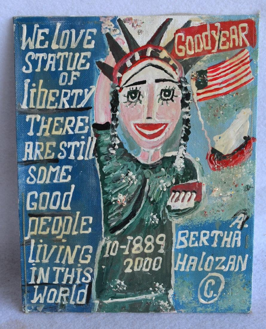 O/B Modernistic rending of the Statue of Liberty signed