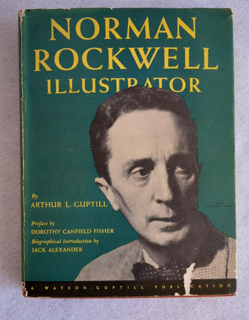 Signed Norman Rockwell book with original dust cover