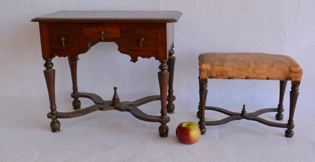 Two pieces of salesman sample furniture including