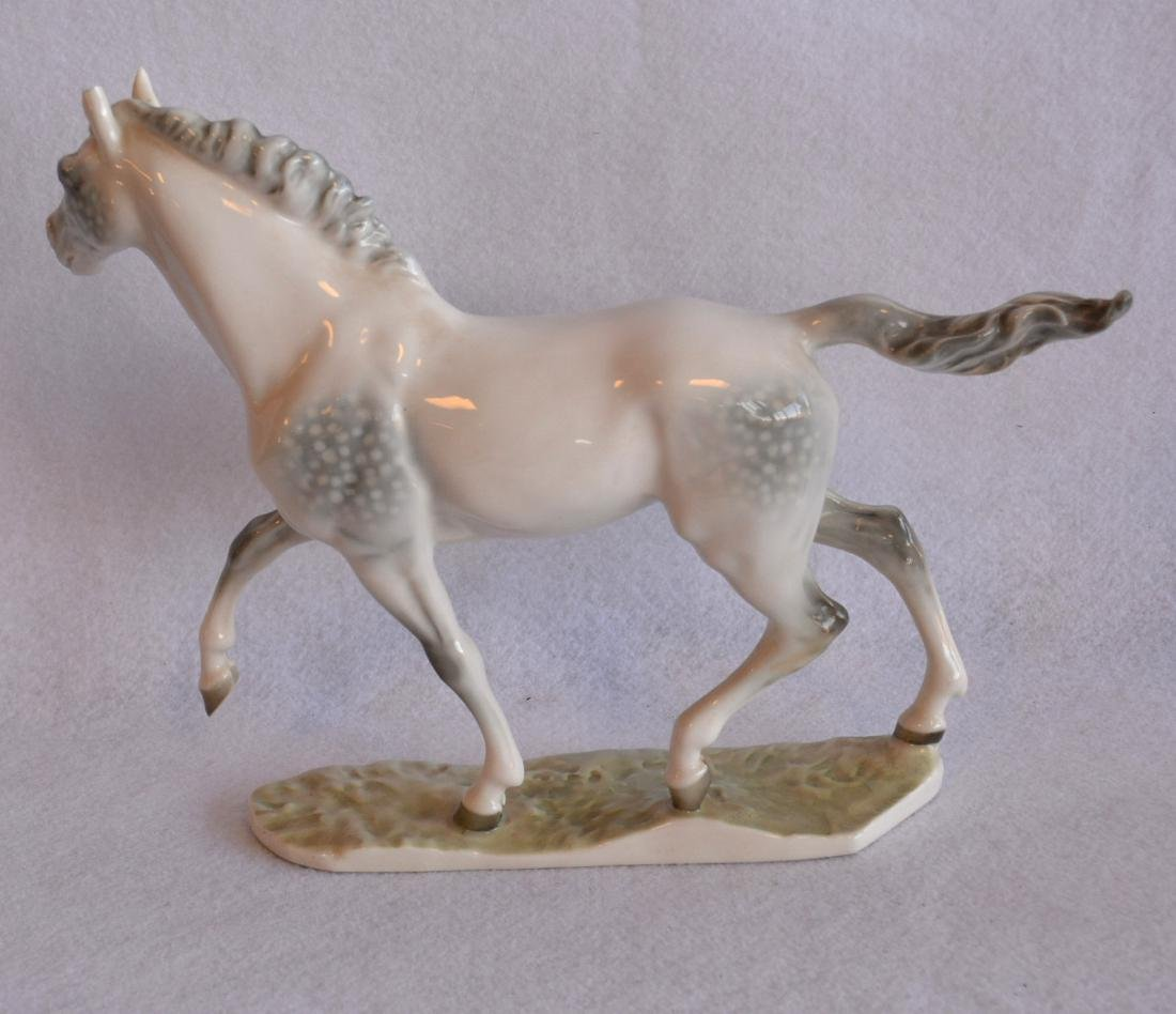 Two beautiful horse figurines: Signed Rosenthal - 6