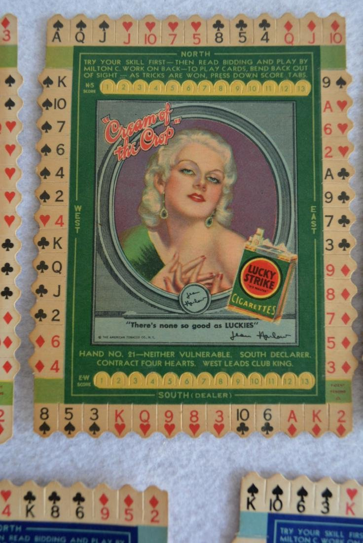 Grouping of 7 unused Lucky Strike Tobacco bridge card - 4