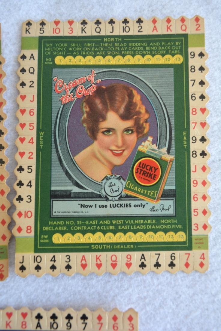 Grouping of 7 unused Lucky Strike Tobacco bridge card - 5