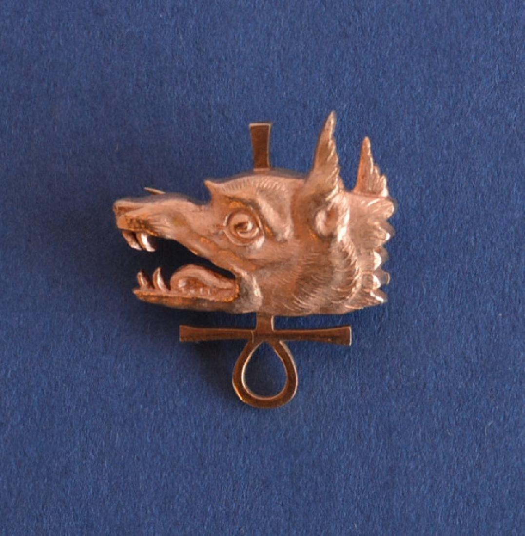 Signed Tiffany & Co.  Golden Jackal pendant in 18K