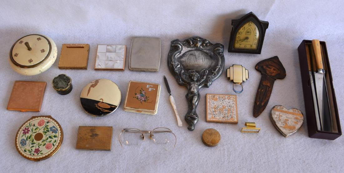 Grouping of mostly lady's vanity items including Art