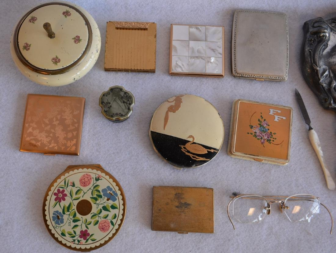 Grouping of mostly lady's vanity items including Art - 3