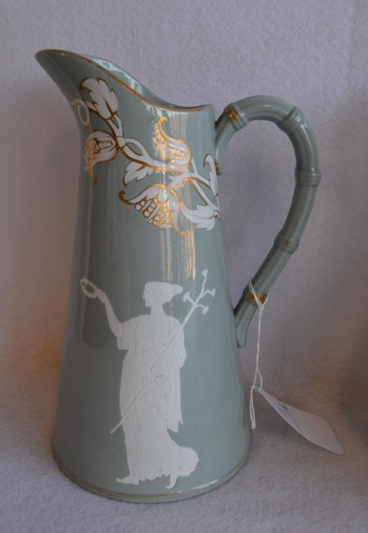 Three classical 19th century water pitchers - each - 2