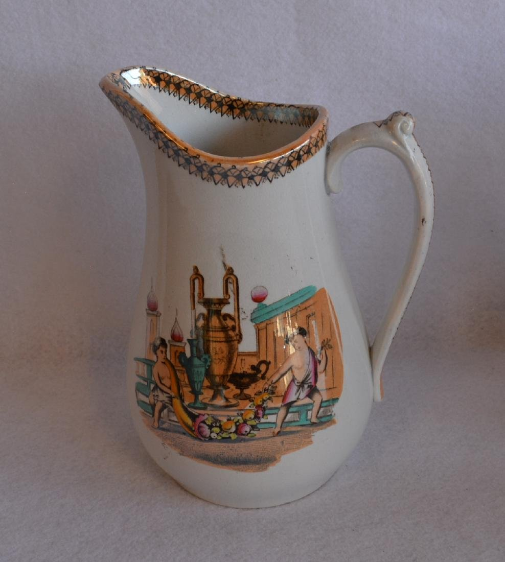 Three classical 19th century water pitchers - each - 3