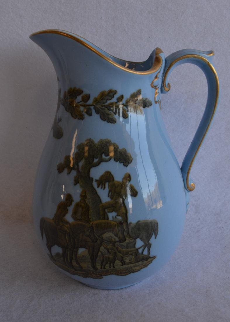 Three classical 19th century water pitchers - each - 4