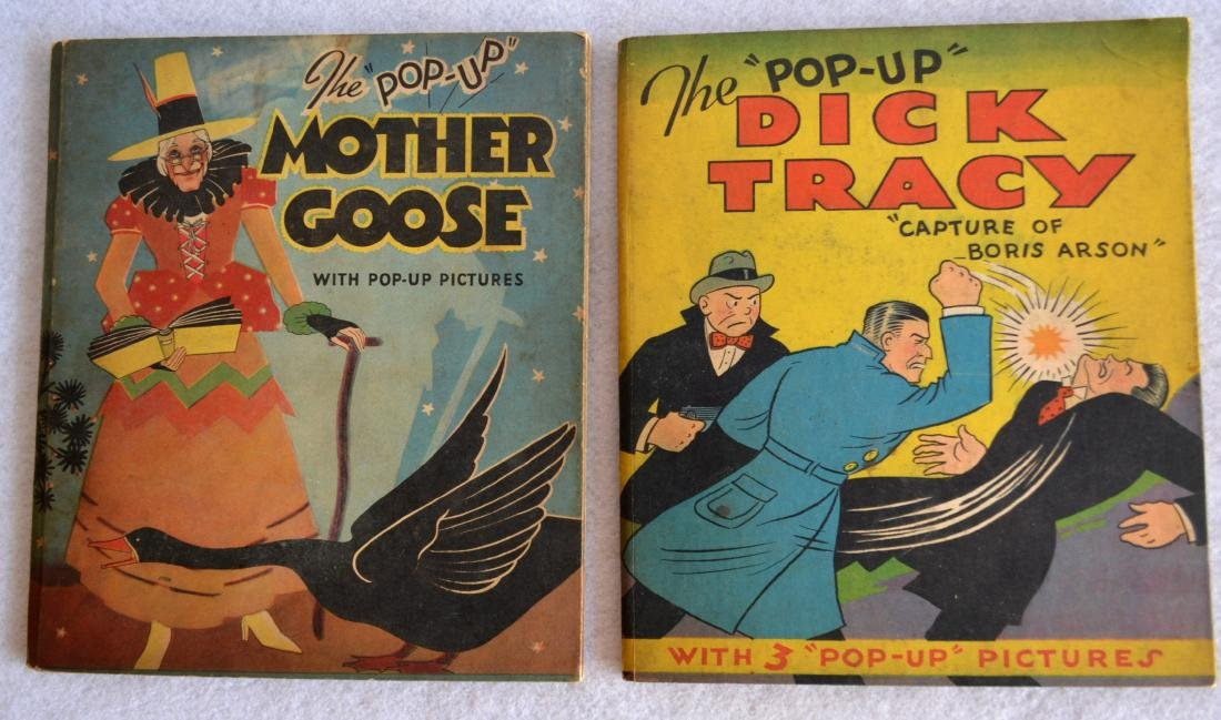 Two child's books including The Pop-Up Dick Tracy -