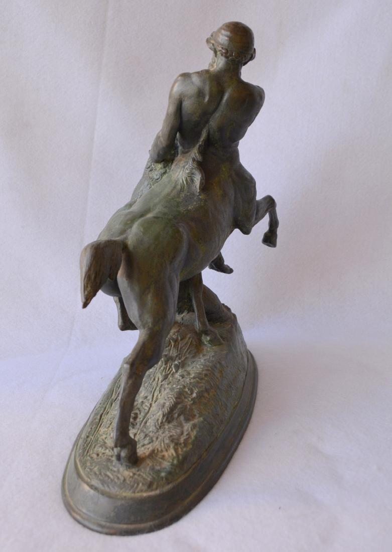 Bronze sculpture of a mythological centaur wrestling a - 5