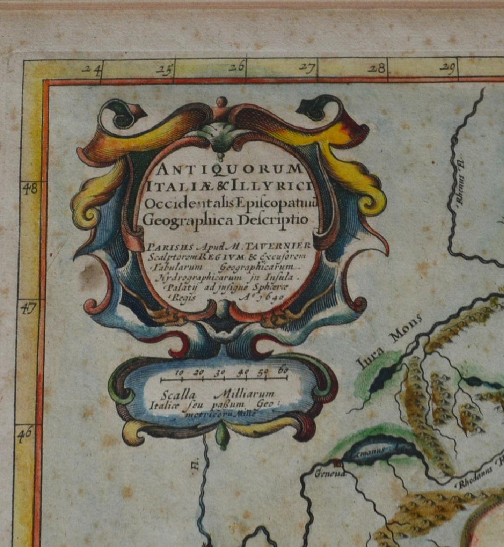 Three 17th century hand colored maps including: 1) - 6