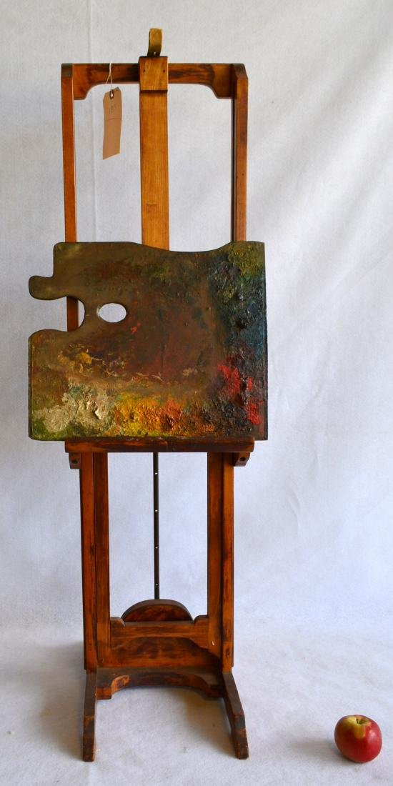 Artist easel with colorful palette, reportedly