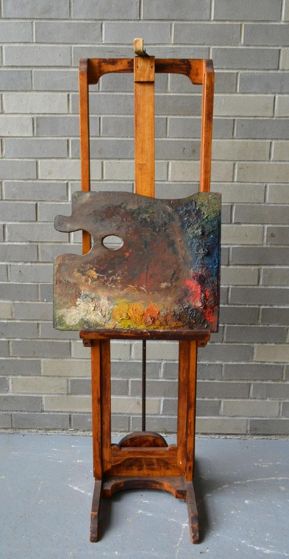 Artist easel with colorful palette, reportedly - 2