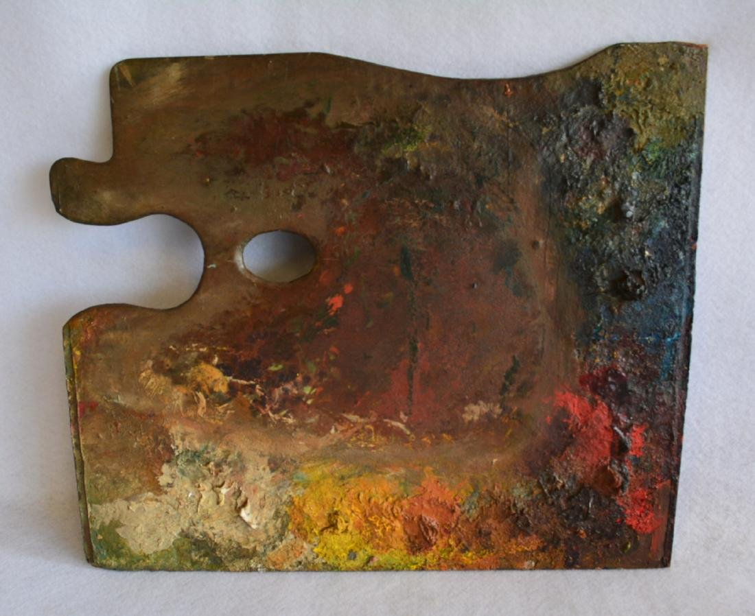 Artist easel with colorful palette, reportedly - 3