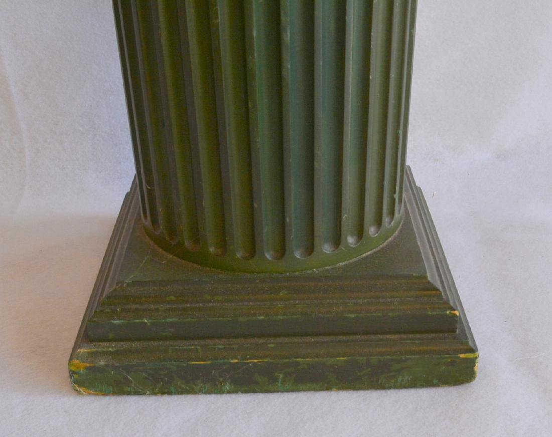 A fluted wooden pedestal with a revolving  top – - 2