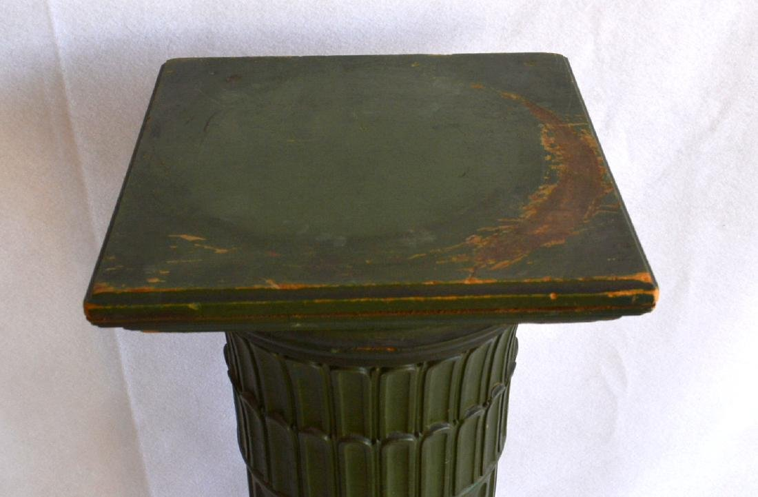 A fluted wooden pedestal with a revolving  top – - 4