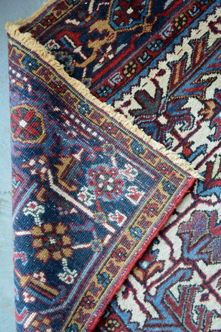 "Oriental room size rug, some losses and wear – 8' 8"" x - 4"