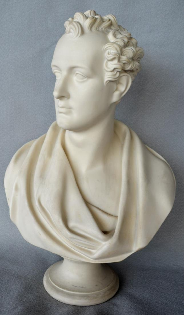 Copeland classical parian bust of Lord Byron signed